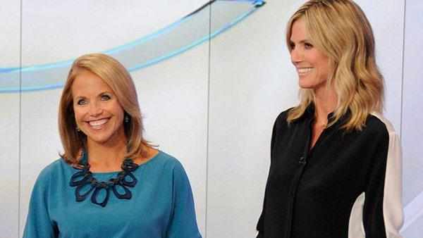 Heidi Klum appears with Katie Couric during her appearance on Katie which aired on September 12, 2012. - Provided courtesy of Katie