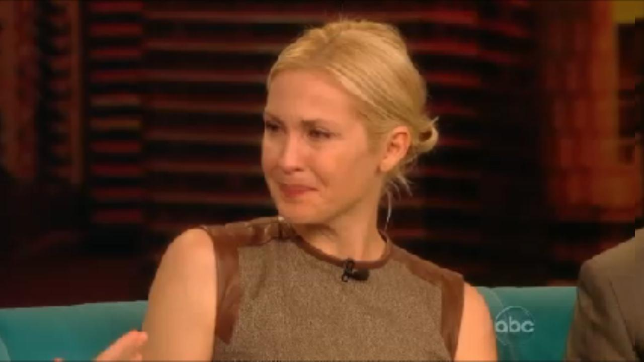 Kelly Rutherford of Gossip Girl speaks on The View on September 13, 2012.