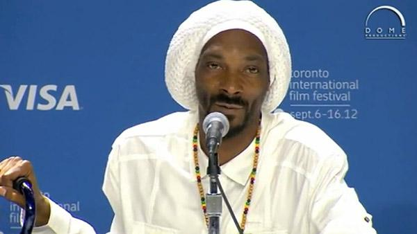 Snoop Lion appears at a press conference at the Toronto Film Festival to promote his documentary 'Reincarnated' on Sept. 8, 2012.