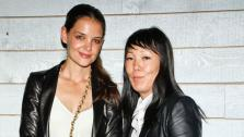 Katie Holmes, center left, and design partner Jeanne Yang appear at Fashion Week in New York on Sept. 11, 2012 to showcase their Holmes and Yang Spring 2013 collection. It was Holmes Fashion Week debut. - Provided courtesy of facebook.com/HolmesandYang