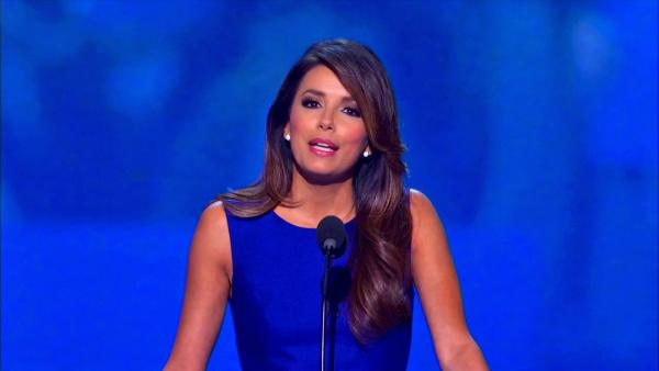 Eva Longoria gives a speech at the Democratic National Convention in North Carolina on Sept. 6, 2012.