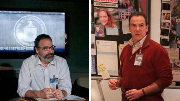 Mandy Patinkin appears in a scene from the Showtime series Homeland in 2011. / Mandy Patinkin appears in a scene from the CBS series Criminal Minds in 2006. - Provided courtesy of Kent Smith / Showtime / CBS / ABC