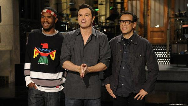 Seth MacFarlane and Kenan Thompson appear in a promotional photo for Saturday Night Live in September 2012. - Provided courtesy of NBC