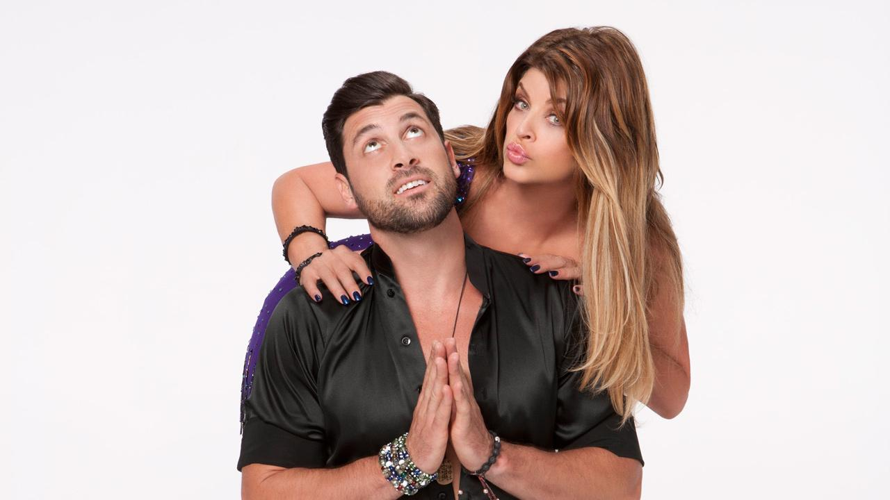 Kirstie Alley and Maksim Chmerkovskiy appear in an official cast photo for Dancing With The Stars: All-Stars season 15.