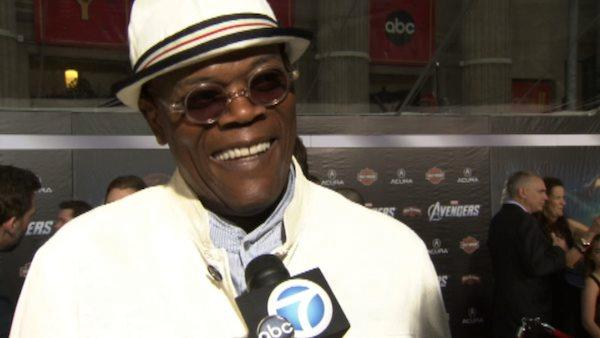 Samuel L. Jackson appears at the premiere of 'The Avengers' in Los Angeles on April 11, 2012.