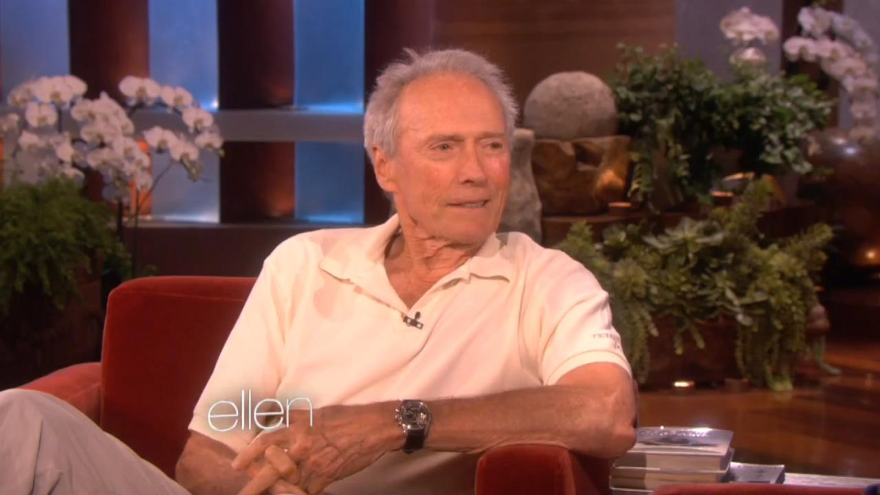 Clint Eastwood appears on an episode of Ellen on September 18, 2012.