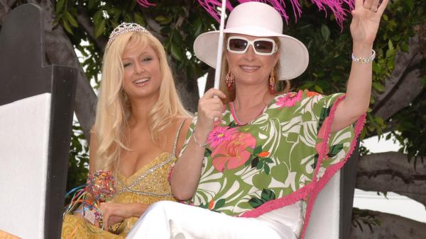 Kathy Hilton, right and daughter Paris Hilton Grand Marshal the 35th annual Gay Pride Parade in West Hollywood, Calif., Sunday, June 12, 2005. - Provided courtesy of AP Photo / Lisa Rose