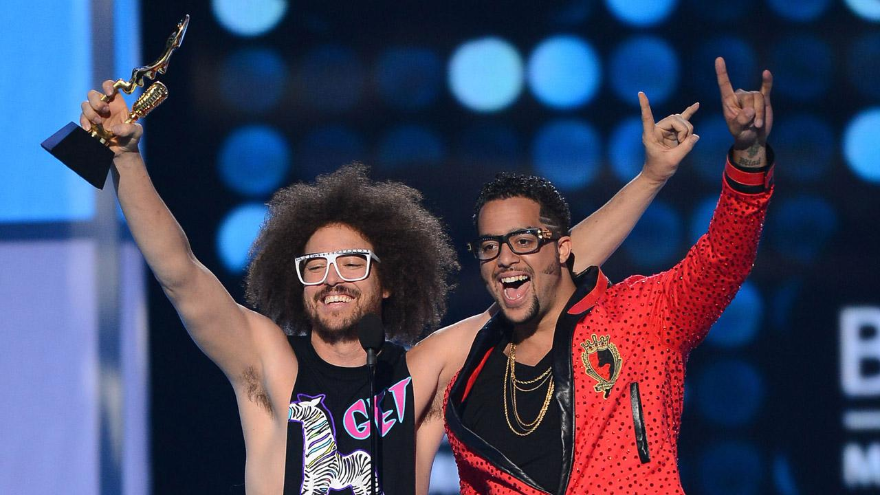 LMFAO members Redfoo and Sky Blu appear at the 2012 Billboard Music Awards in Las Vegas on May 20, 2012.