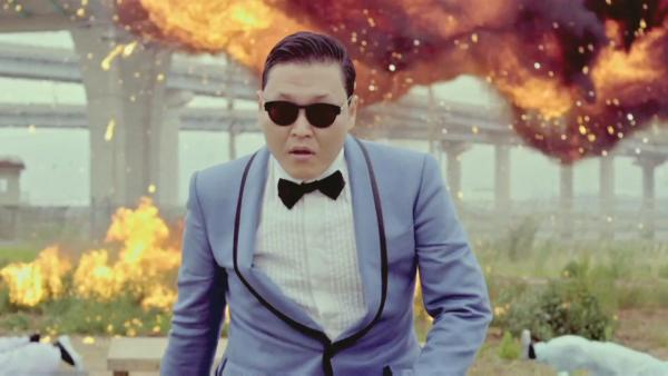Psy appears in a still from his music video for Gangnam Style, which was uploaded to YouTube on July 15, 2012. - Provided courtesy of YG Entertainment