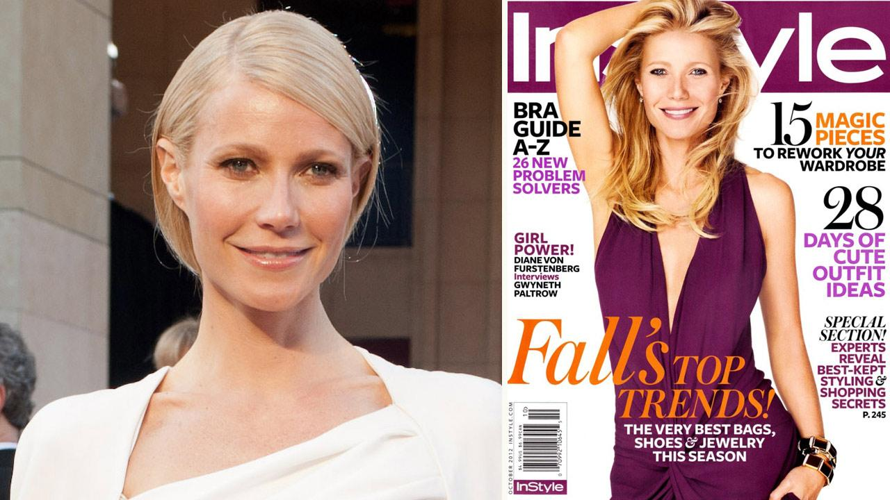 Gwyneth Paltrow arrives at the 84th Annual Academy Awards in Hollywood, CA on February 26, 2012. / Gwyneth Paltrow appears on the October 2012 cover of In Style magazine.