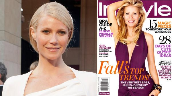 Gwyneth Paltrow arrives at the 84th Annual Academy Awards in Hollywood, CA on February 26, 2012. / Gwyneth Paltrow appears on the October 2012 cover of In Style magazine. - Provided courtesy of Matt Petit / A.M.P.A.S. / In Style