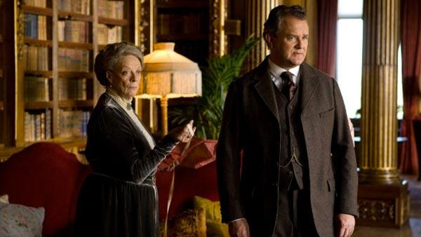 Maggie Smith and Hugh Bonneville appear in a scene from the PBS series Downton Abbey in 2011. - Provided courtesy of PBS / Carnival Film and Television Ltd.