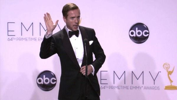 Damian Lewis speaks after the 2012 Emmy Awards