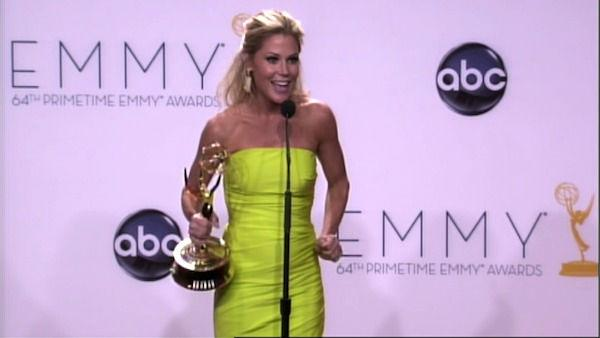 Julie Bowen speaks after the 2012 Emmy Awards