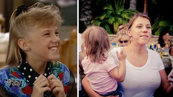 Jodie Sweetin appears in a scene from the TV show 'Full House.' / Candace Cameron Bure and Andrea Barber are pictured at the 'Full House' 25th anniversary reunion, as seen in this photo Stamos posted on his Facebook page on Sept. 22, 2012.)