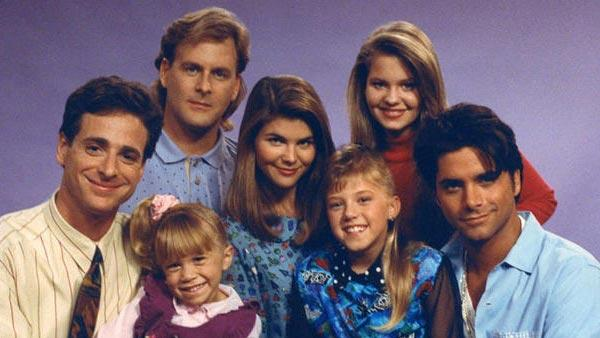 Cast of 'Full House' appears in an undated photo. The show aired from 1987 to 1995.