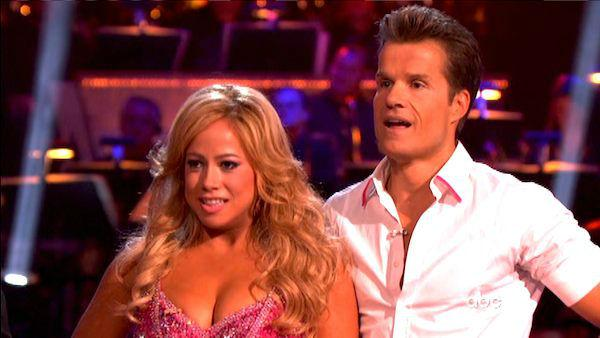 Sabrina Bryan and Louis Van Amstel appear in a still from 'Dancing With The Stars: All-Stars' on September 24, 2012.