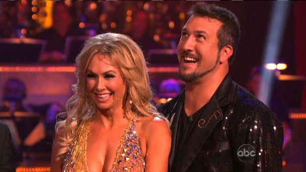 Joey Fatone and Kym Johnson appear in a still from 'Dancing With The Stars: All-Stars' on September 24, 2012.