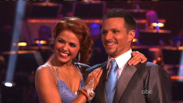 Drew Lachey and Anna Trebunskaya appear in a still from 'Dancing With The Stars: All-Stars' on September 24, 2012.