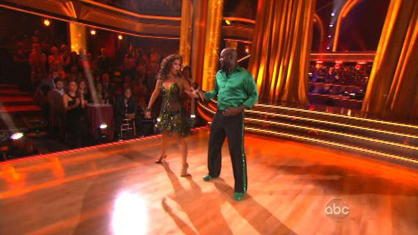Emmitt Smith and Cheryl Burke appear in a still from 'Dancing With The Stars: All-Stars' on September 24, 2012.