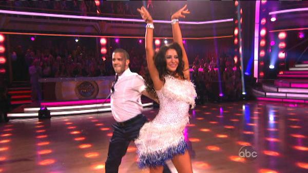 Bristol Palin and Mark Ballas appear in a still from Dancing With The Stars: All-Stars on September 24, 2012. - Provided courtesy of ABC