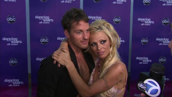 Pamela Anderson and Tristan MacManus on emotional reaction