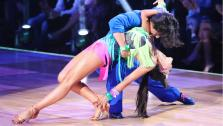 Apolo Anton Ohno and Karina Smirnoff perform on the premiere of Dancing With The Stars: All-Stars on Monday, Sept. 24, 2012. - Provided courtesy of ABC / Adam Taylor