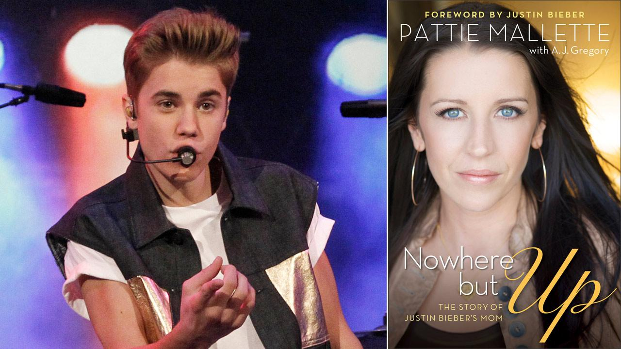 Justin Bieber appears in a photo from the set of The View on June 19, 2012.  / This book cover image released by Revell Books shows Nowhere but Up: The Story of Justin Biebers Mom, an autobiography by Pattie Mallette.