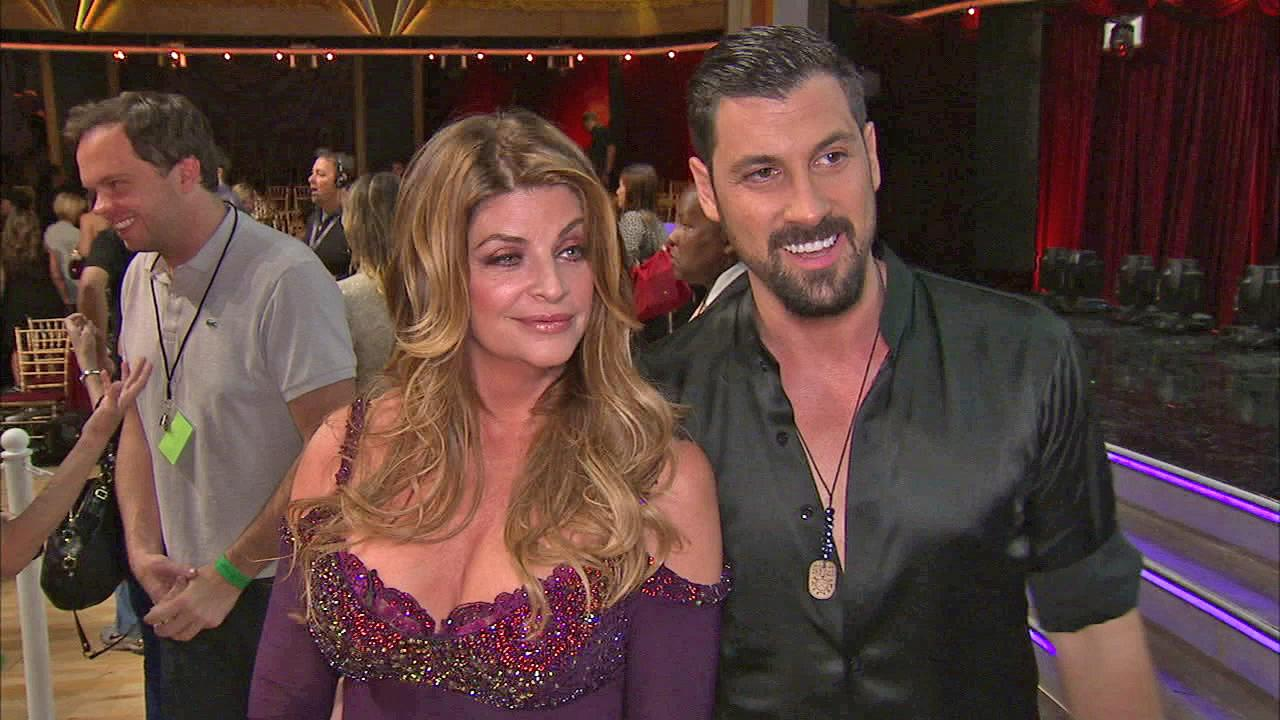 Kirstie Alley and Maksim Chmerkovskiy talk to OTRC.com after the September 25, 2012 episode of Dancing With The Stars.
