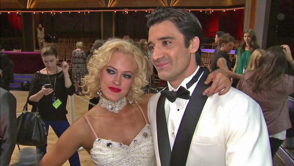 Gilles Marini and Peta Murgatroyd talk to OTRC.com after the September 25, 2012 episode of 'Dancing With The Stars.'