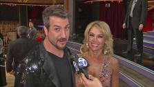 Joey Fatone and Kym Johnson talk to OTRC.com after the September 25, 2012 episode of Dancing With The Stars. - Provided courtesy of ABC