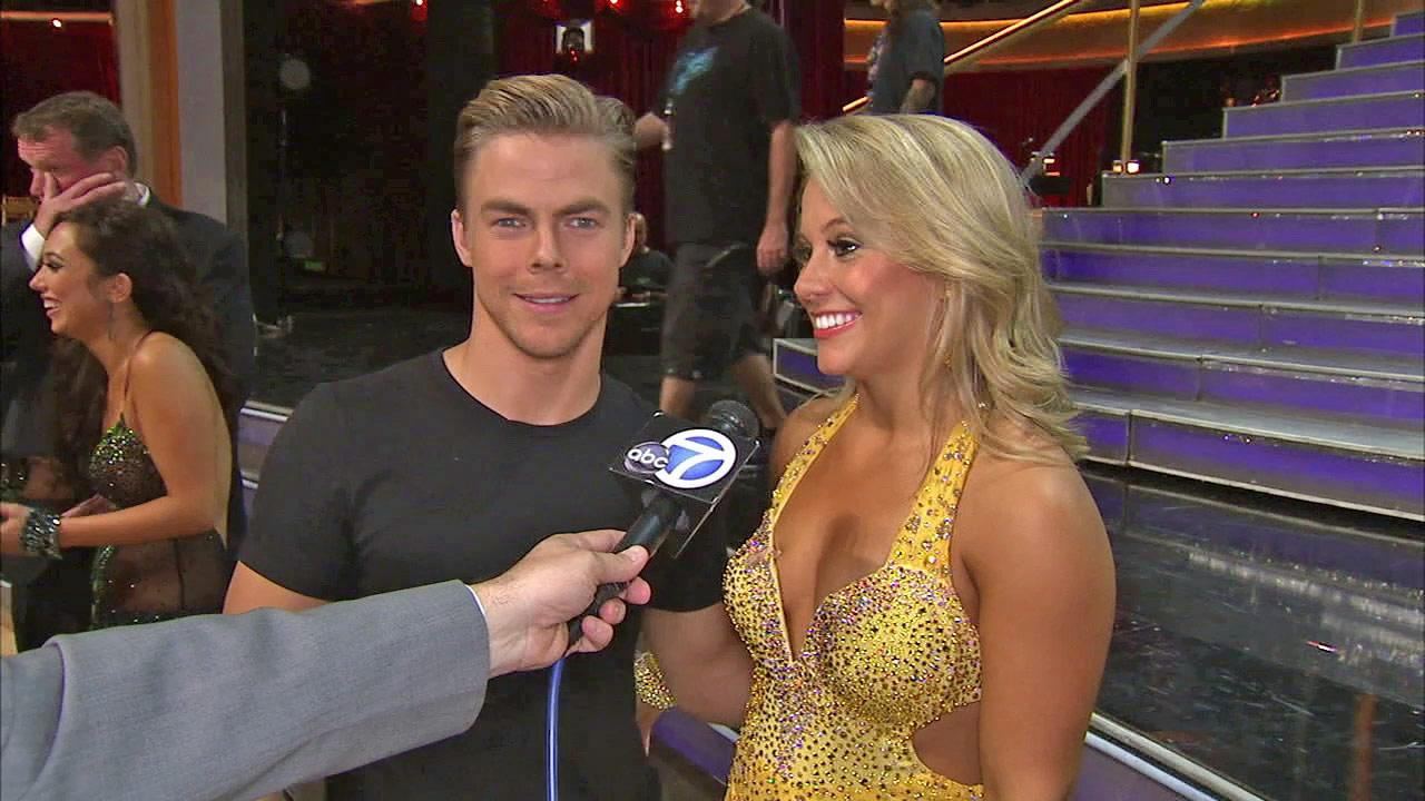 Shawn Johnson and Derek Hough talk to OTRC.com after the September 25, 2012 episode of Dancing With The Stars.