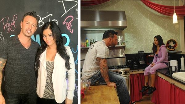 JWoww and Roger Mathews appear in a photo posted on her Twitter page on July 23, 2012. / JWoww and Roger Mathews appear in a scene from the MTV 'Jersey Shore' spin-off 'Snooki and JWoww' in 2012.