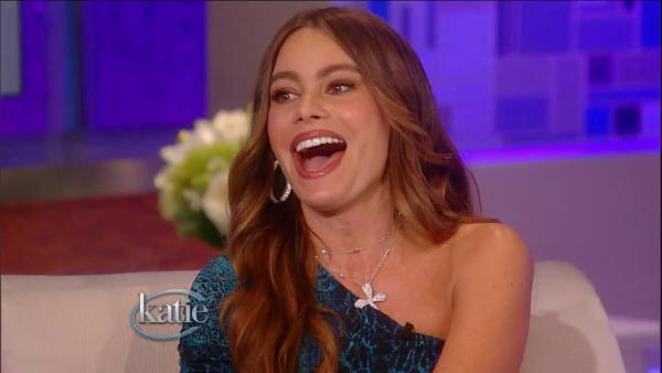 Sofia Vergara appears in a scene from her September 26 appearance on Katie Courics talk show, Katie. - Provided courtesy of ABC