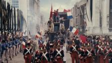 The students appear on the barricade in a scene from the 2012 movie Les Miserables. - Provided courtesy of none / Working Title Films / Cameron Mackintosh Ltd.