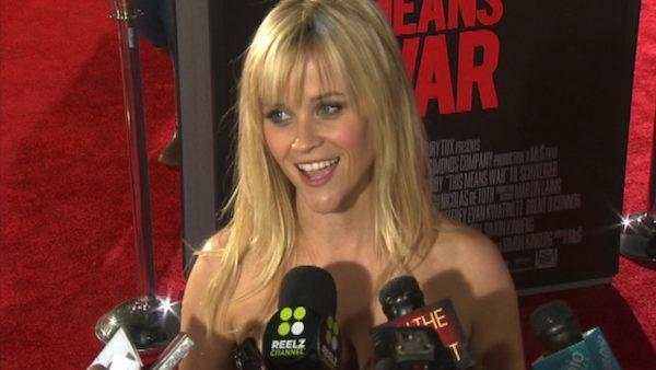 Reese Witherspoon talks to OnTheRedCarpet.com at the Los Angeles premiere of the film 'This Means War' in February 2012.