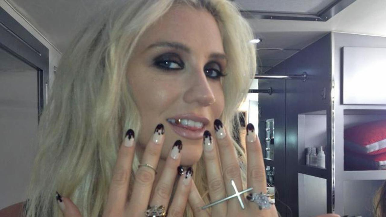 Ke$ha appears in a photo posted on her official Twitter account on September 26, 2012.