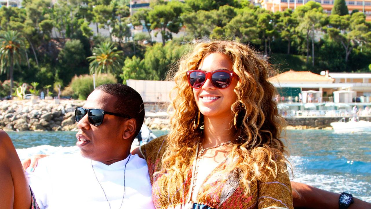 Beyonce and Jay-Z appear in an undated photo posted on her Tumblr blog in April 2012.