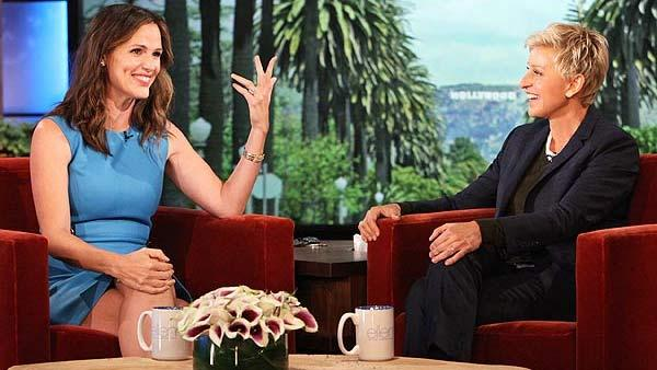 Jennifer Garner  appears on The Ellen DeGeneres Show on September 27, 2012. - Provided courtesy of Michael Rozman / Warner Bros