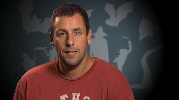 Adam Sandler appears in an interview to promote her upcoming film, Hotel Transylvania.