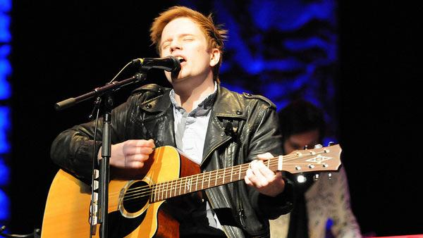 Patrick Stump of popular alternative rock band Fall Out Boy performs at Spartanburg Memorial Auditorium in Spartanburg, South Carolina on Dec. 10, 2011.
