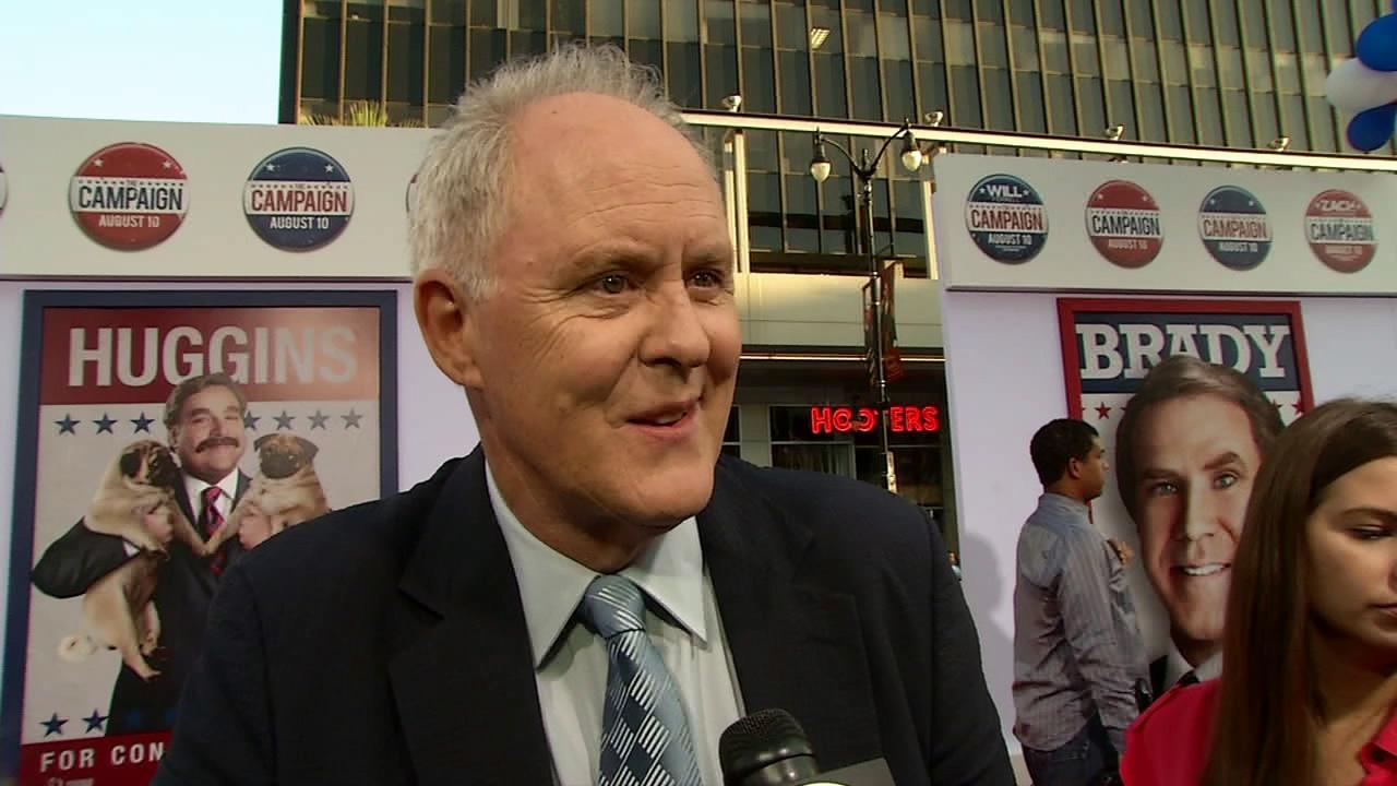 John Lithgow talks to OnTheRedCarpet.com at the Los Angeles premiere of the Will Ferrell-Zach Galifianakis comedy movie The Campaign on Aug. 2, 2012.