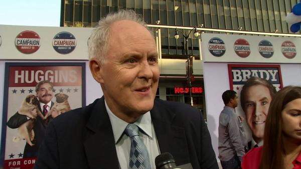 John Lithgow talks to OnTheRedCarpet.com at the Los Angeles premiere of the Will Ferrell-Zach Galifianakis comedy movie 'The Campaign' on Aug. 2, 2012.
