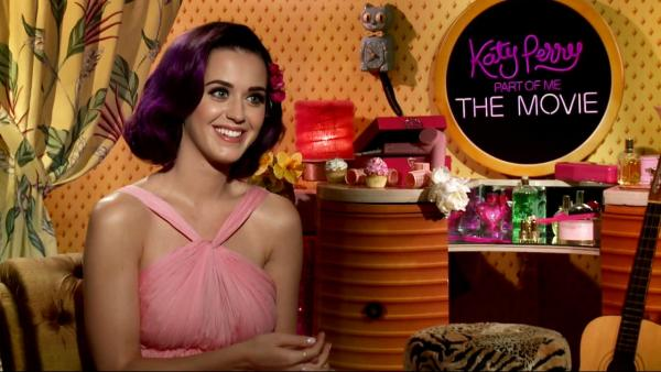 Katy Perry appears in a junket interview on June 21, 2012 talking to OnTheRedCarpet.com about religion, family and her fans.