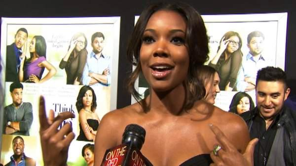 Gabrielle Union talks to OnTheRedCarpet.com at the premiere of the 2012 romance comedy 'Think Like a Man' in Los Angeles.