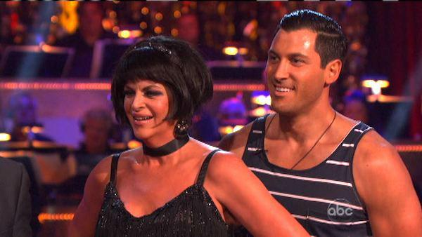 Kirstie Alley and Maksim Chmerkovskiy appear in a still from 'Dancing With The Stars: All-Stars' on October 1, 2012.