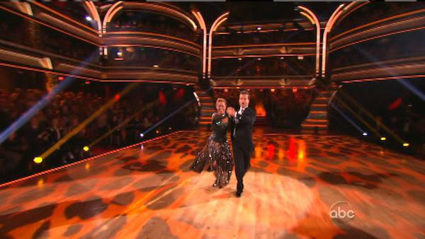 Sabrina Bryan and Louis Van Amstel appear in a still from 'Dancing With The Stars: All-Stars' on October 1, 2012.