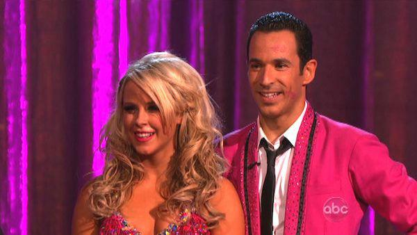Helio Castroneves and Chelsie Hightower appear in a still from 'Dancing With The Stars: All-Stars' on October 1, 2012.