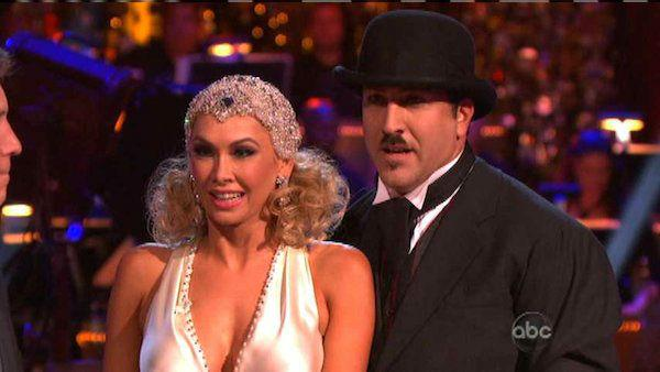 Joey Fatone and Kym Johnson appear in a still from 'Dancing With The Stars: All-Stars' on October 1, 2012.