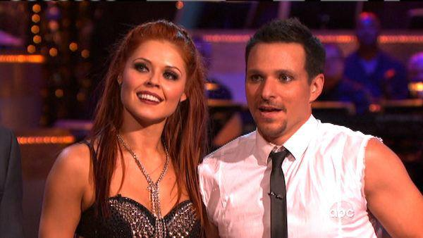 Drew Lachey and Anna Trebunskaya appear in a still from 'Dancing With The Stars: All-Stars' on October 1, 2012.